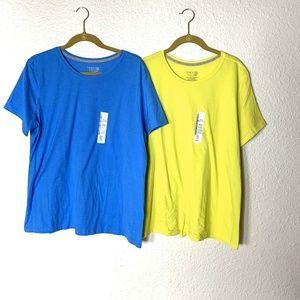 New Lot of 2 Time & Tru Plus Size XXL T-shirt Tee